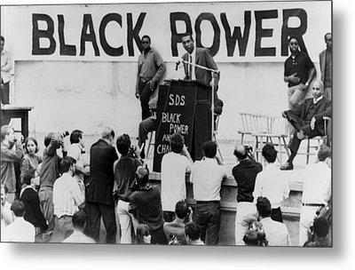 Stokely Carmichael Speaking Metal Print by Everett