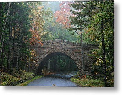 Metal Print featuring the photograph Stone Bridge by Mary Hershberger