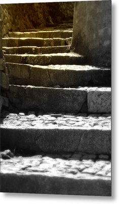 Metal Print featuring the photograph Stone Steps by Emanuel Tanjala