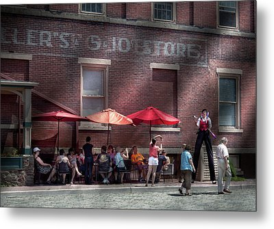 Storefront - Bastile Day In Frenchtown Metal Print by Mike Savad