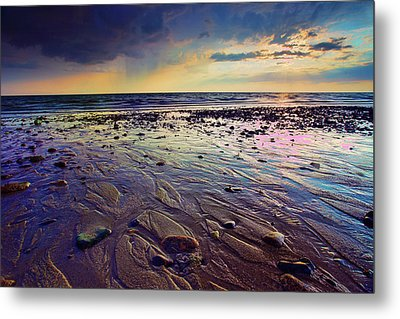 Storm And Sun Metal Print by Rick Berk