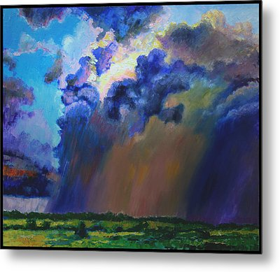 Storm Clouds Over Missouri Metal Print by John Lautermilch