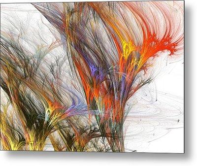 Storm In Fractal-trees Metal Print by Steve K