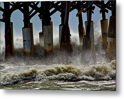 Storm Surge Metal Print by Nancie Rowan