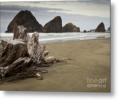 Stormy Oregon Coast Metal Print by Jim Adams