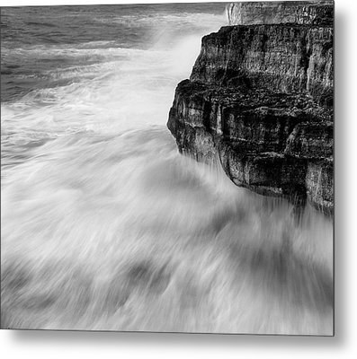 Metal Print featuring the photograph Stormy Sea 1 by Pedro Cardona
