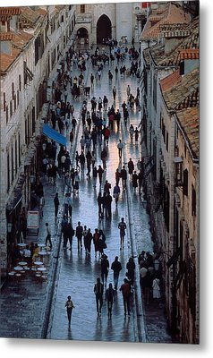 Streets Of Dubrovnik Metal Print by Carl Purcell