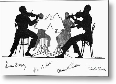 String Quartet, C1935 Metal Print by Granger