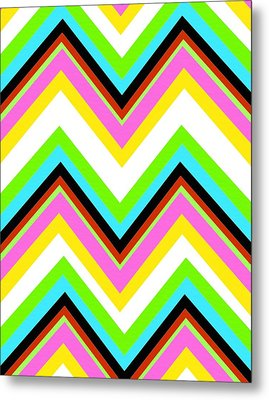 Stripe Metal Print by Louisa Knight