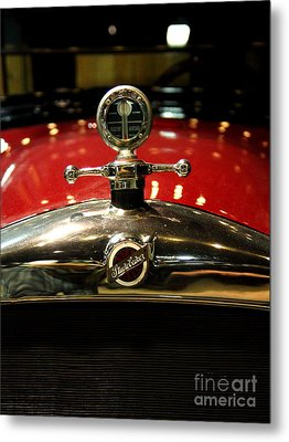 Studebaker Hood Ornament Metal Print by Wingsdomain Art and Photography