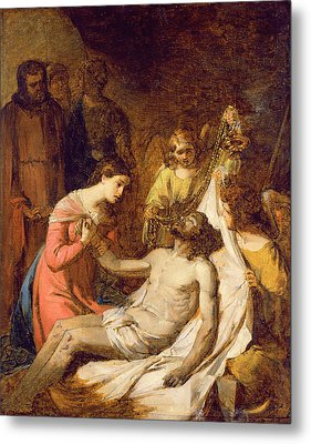 Study Of The Lamentation On The Dead Christ Metal Print by Benjamin West