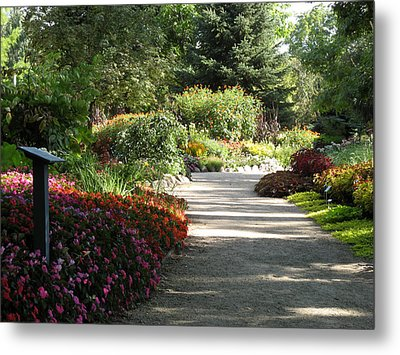 Summer Garden Path Metal Print by Kimberly Mackowski