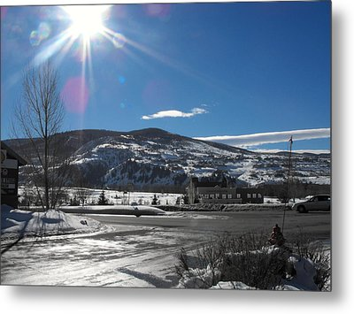 Sun On Ice Metal Print by Adam Cornelison