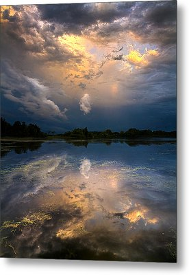 Sun Risen Reflections Metal Print by Phil Koch