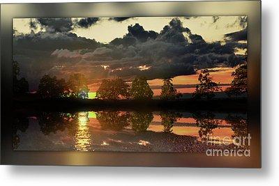 Sundown In The Lake Metal Print by Bruno Santoro
