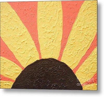 Sunflower Burst Metal Print by Jeannie Atwater Jordan Allen