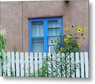 Sunflower Window  Metal Print by Vicki Lomay