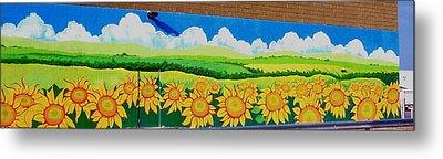 Sunflowers-exterior Mural Metal Print by Jennifer Little