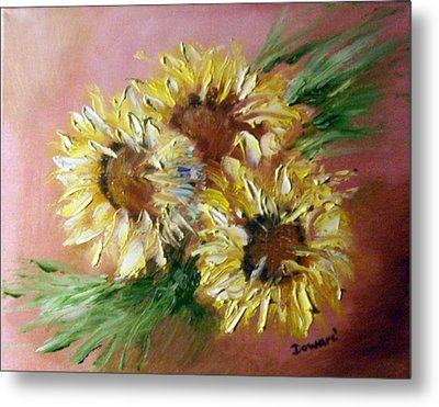 Sunflowers Metal Print by Raymond Doward