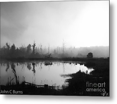 Metal Print featuring the photograph Sunrise Drilling by John Burns