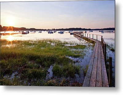 Sunrise In Chatham Metal Print by Nick  Shirghio