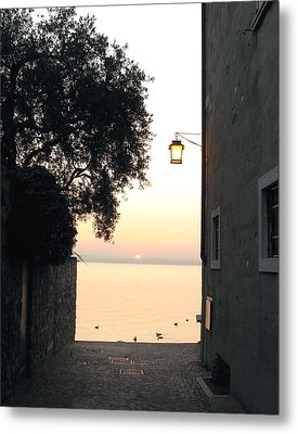 Sunrise Over Lake Garda Metal Print by Vikki Bouffard