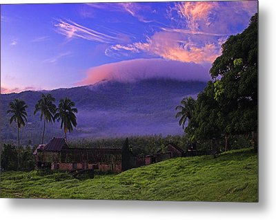 Metal Print featuring the photograph Sunrise Over Plantation Ruins- St Lucia by Chester Williams