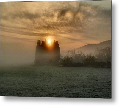 Sunrise Over The Tower Metal Print by Debra Collins