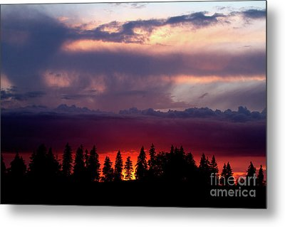Metal Print featuring the photograph Sunset After Storm by Charles Lupica