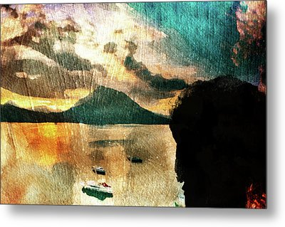 Sunset And Fear Metal Print by Andrea Barbieri