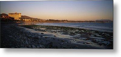 Sunset At Low Tide On Ventura Beach Metal Print by Rich Reid