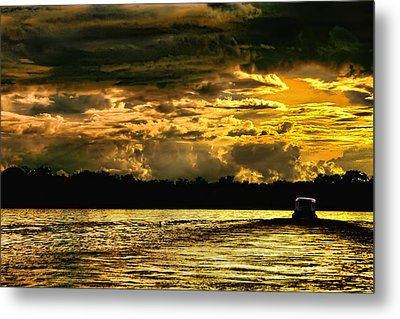 Sunset At Ri Negro Metal Print