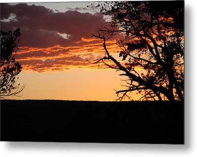 Sunset At Ridgway State Park Metal Print by Marta Alfred