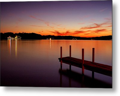 Metal Print featuring the photograph Sunset At The Dock by Michelle Joseph-Long