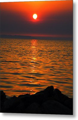 Metal Print featuring the photograph Sunset by Colette V Hera  Guggenheim