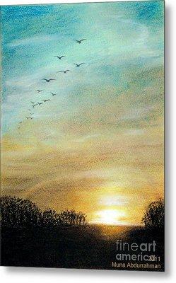 Sunset Metal Print by Muna Abdurrahman