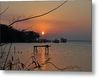 Sunset On The St. John's River Metal Print by Tiffney Heaning