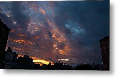 Sunset Over Brooklyn Post Irene Metal Print by Julie VanDore