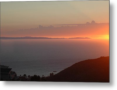 Sunset Over Catalina Metal Print by Russell Pierce