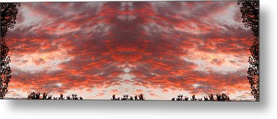 Sunset Panorama Psychedelic Trance Metal Print by James BO  Insogna