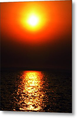 Metal Print featuring the photograph sunset Santorini Greece by Colette V Hera  Guggenheim
