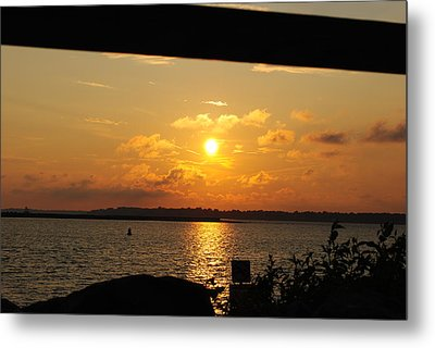 Metal Print featuring the photograph Sunset Through The Rails by Michael Frank Jr