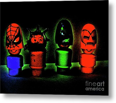 Superheroes Metal Print by Ricky Sencion