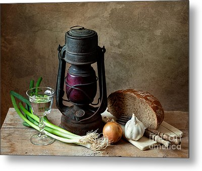 Supper Metal Print by Nailia Schwarz