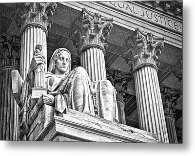 Supreme Court Building 16 Metal Print by Val Black Russian Tourchin
