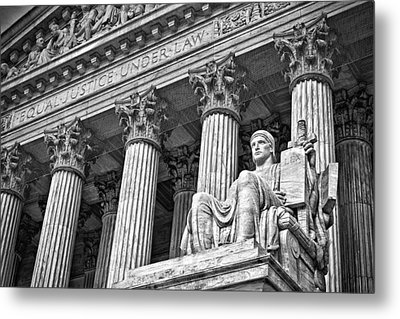 Supreme Court Building 19 Metal Print by Val Black Russian Tourchin