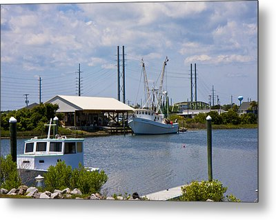 Surf City View Metal Print by Betsy Knapp