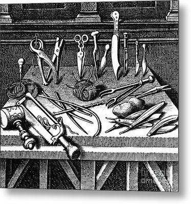 Surgical Equipment, 16th Century Metal Print by Science Source