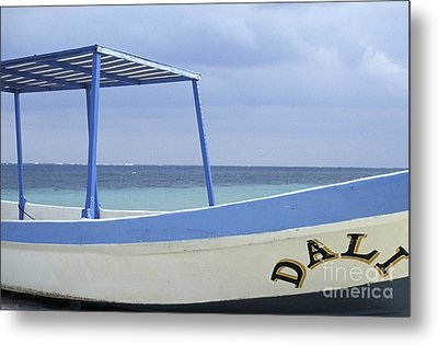 Metal Print featuring the photograph Surrealist Fishing Boat Riviera Maya Mexico by John  Mitchell