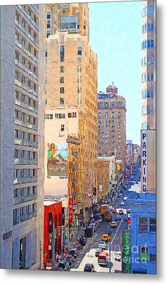 Sutter Street San Francisco Metal Print by Wingsdomain Art and Photography